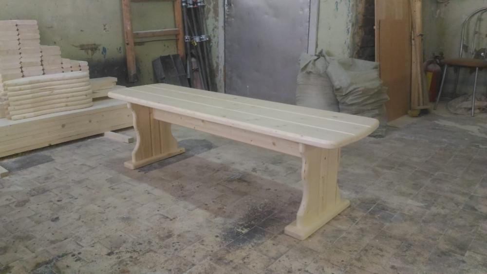 Скамья деревянная без спинки