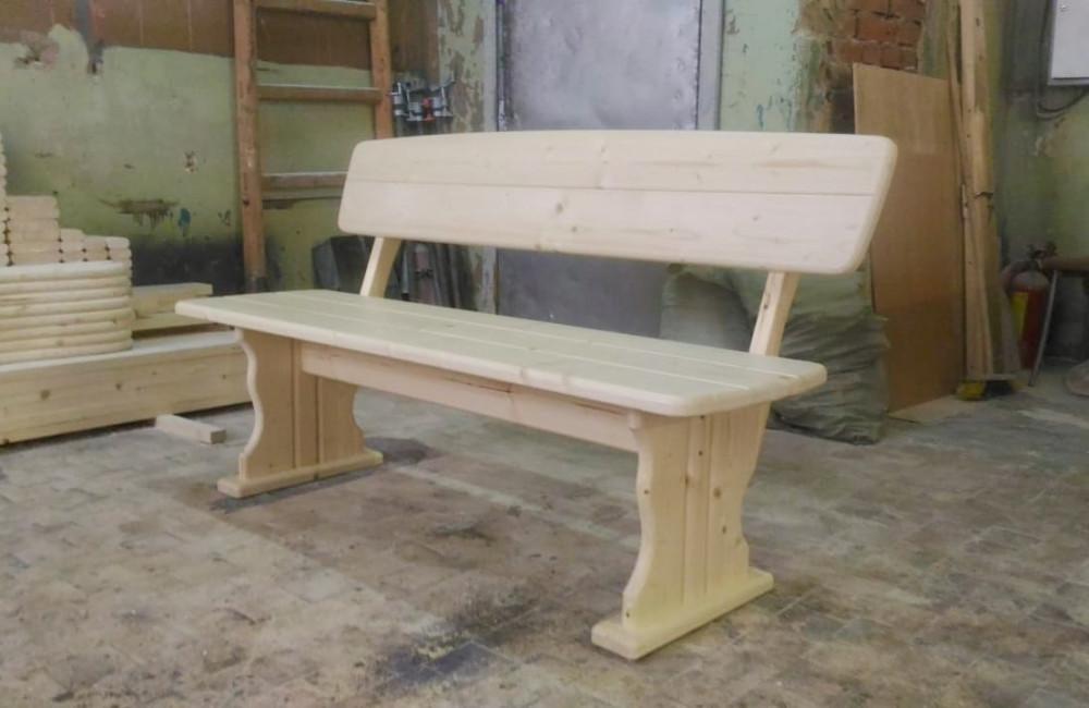 Скамья деревянная со спинкой