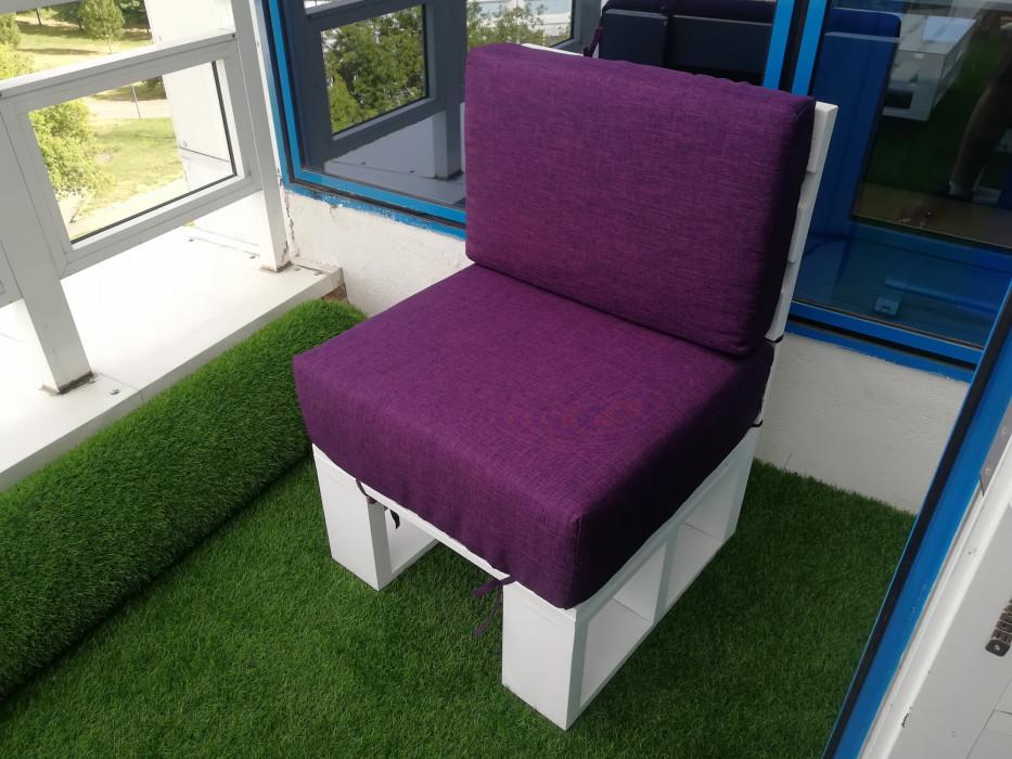 Кресло в стиле паллет