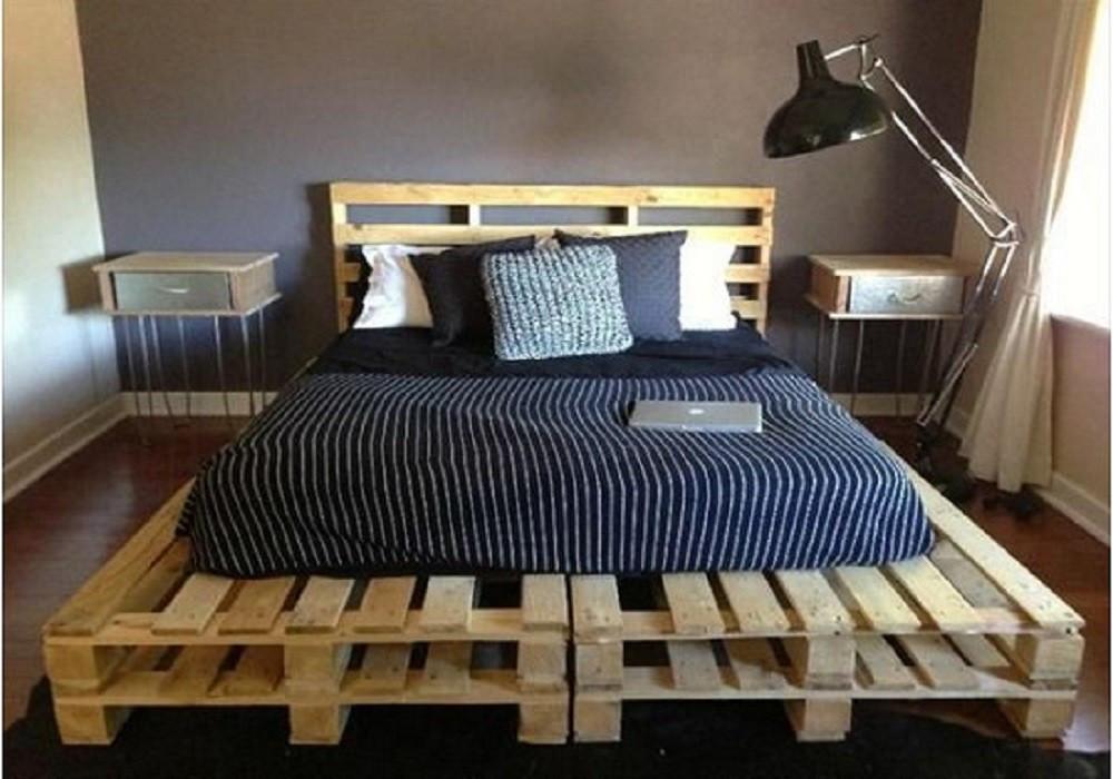 Кровать из поддонов Гавань
