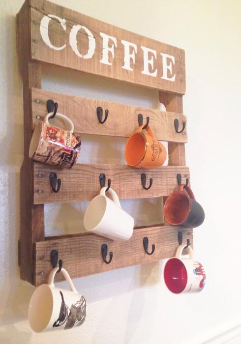 Полка для кафе из поддонов Эндор