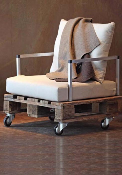 Кресло из поддонов Просперо