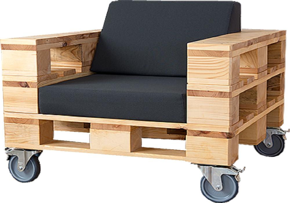 Кресло из поддонов Калибан