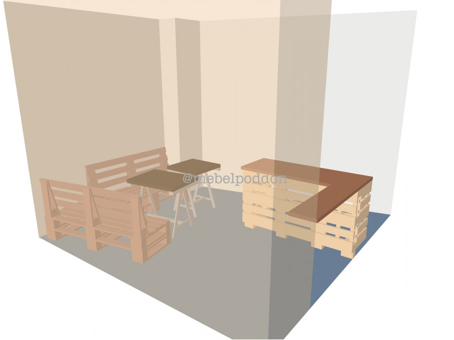 Идеи оформления баров и кафе из паллет